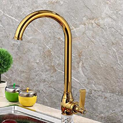 Amazon.com: Bathroom Sink Faucet Kitchen Faucet Copper Gold European ...