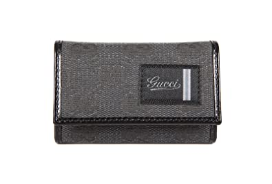 cd4da5315a8 Gucci men s genuine leather keychain keyring holder gift cotton black