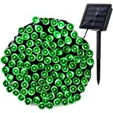 Qedertek 200 LED Solar Christmas Lights, 72 ft Fairy Decorative Garden String Lights for Home, Patio, Porch, Lawn, Party and Holiday Decorations(Green)