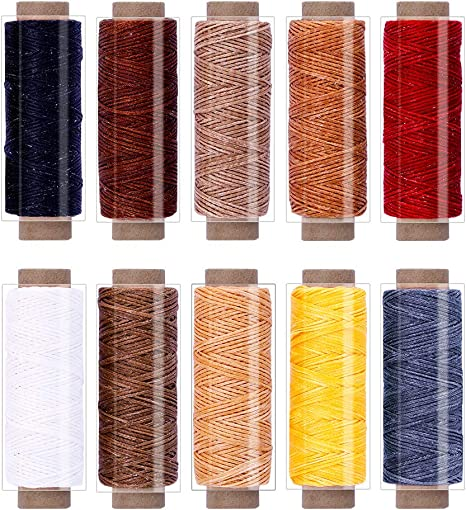 24 Colors Sewing Thread Cord Hand /& Machine for DIY Leather Craft Stitching