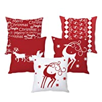 The Purple Tree Christmas Cushion Cover (5 Pieces)