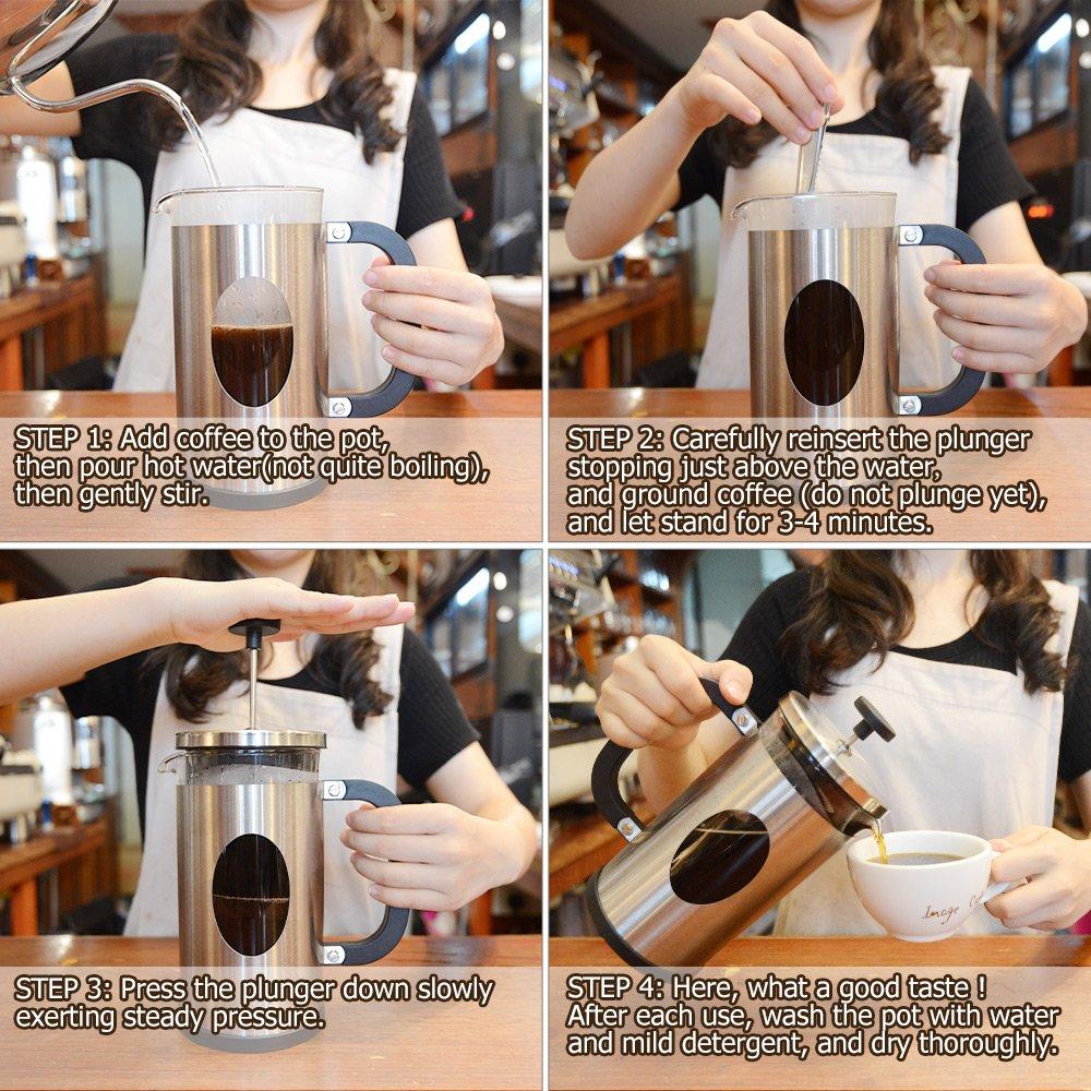 TOP-MAX - Prensa francesa cafetera eléctrica: Amazon.es: Hogar