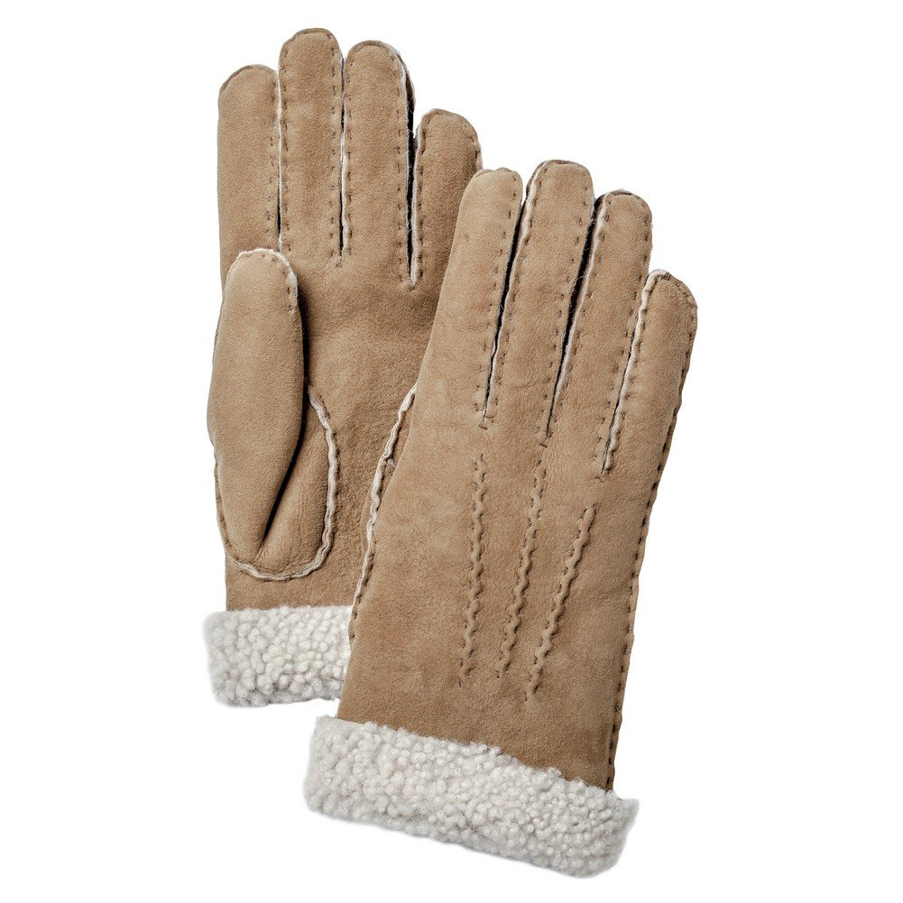 Hestra Women's Sheepskin Leather Dress Glove,Beige,6