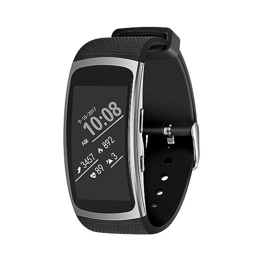 EloBeth SM R360 - Pulsera de repuesto para reloj inteligente Samsung Gear Fit II, silicona