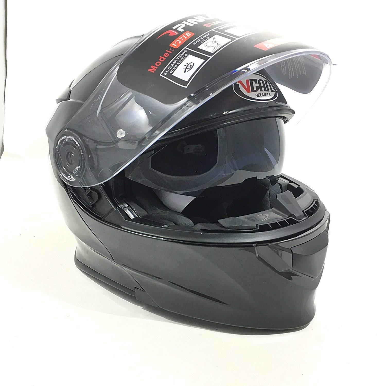 8631e983616 Vcan V271 BLINC Bluetooth con tapa frontal casco nuevo moto MP3 GPS FM de  comunicación de ...