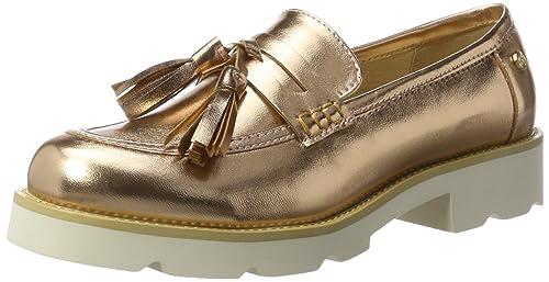 XTI Nude Metallic Ladies Shoes, Mocasines para Mujer, Rosa, 38 EU: Amazon.es: Zapatos y complementos
