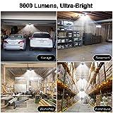 Garage Lights, 8000LM Trilight 6000K LED Garage