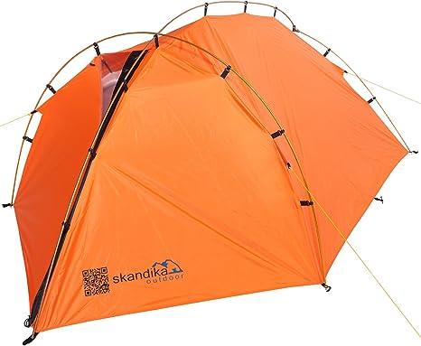 skandika Glacier - Tiendas de campaña de túnel, Color Naranja, Talla 3000 mm: Amazon.es: Deportes y aire libre