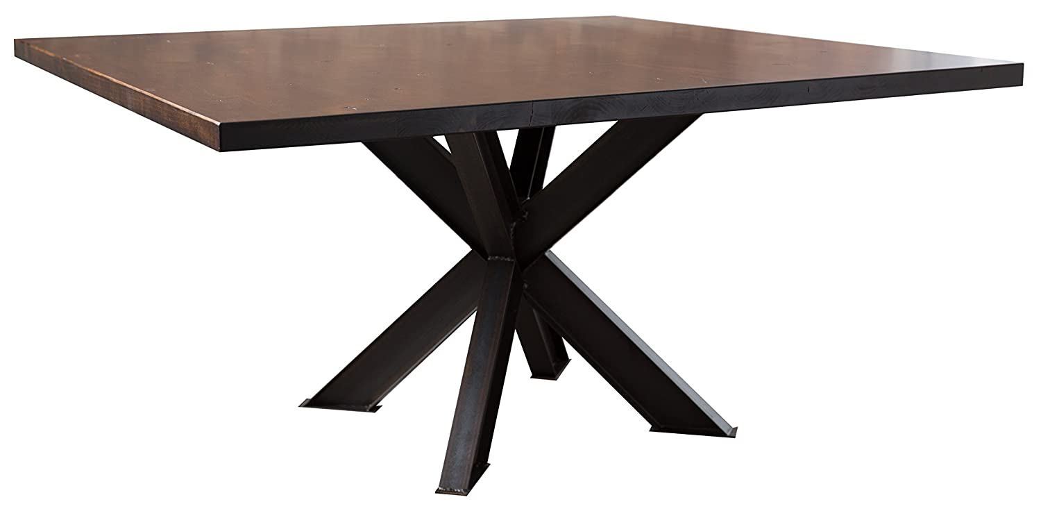 Amazon.com - Square Industrial Steel X Pedestal Table (60
