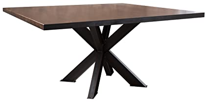Amazoncom Square Industrial Steel X Pedestal Table 60 X 60