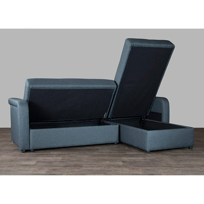 Amazon.com: Baxton Studio Leicestershire Seccional sofá ...