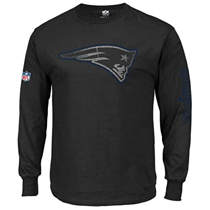 48b4a08e1b5 Amazon.com : Majestic Longsleeve - NFL New England Patriots Black ...