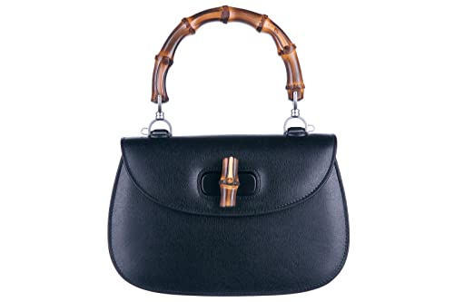 f977641feaefa Gucci borsa donna a mano shopping in pelle nuova bamboo nero  Amazon.it   Scarpe e borse