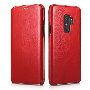 34bd71ad71b NOVADA Leather Samsung Galaxy S9+ Plus Case Genuine  Amazon.co.uk   Electronics