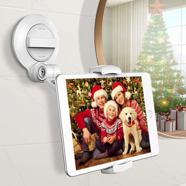 Cocoda Tablet Halterung mit Starkem Saugnapf, 360 °Drehbarer Universeller Tablet Ständer für Laptop/iPhone/iPad/Fire HD/Phone/Tablet mit 4~11 Zoll, Ideal für Spiegel/Fenster/Wände/Küche/Tische/Autos