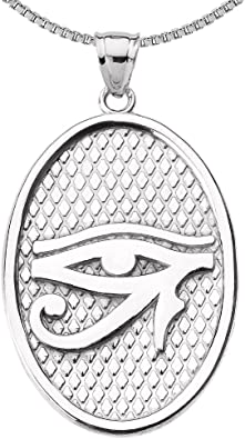 "Eye of Horus 925 Silver Pendant 18/"" Necklace Egypt Protection Jewellery Boxed"