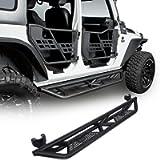 Hooke Road Wrangler JK Running Boards Drop Side Steps Nerf Bars Compatible with Jeep Wrangler JK Unlimited 4 Door 2007…