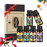 Innoo Tech Essential Oils Set for Diffuser, 6pcs x 10 mL, Lavender, Eucalyptus, Lemon, Sweet Orange, Tea Tree, Peppermint