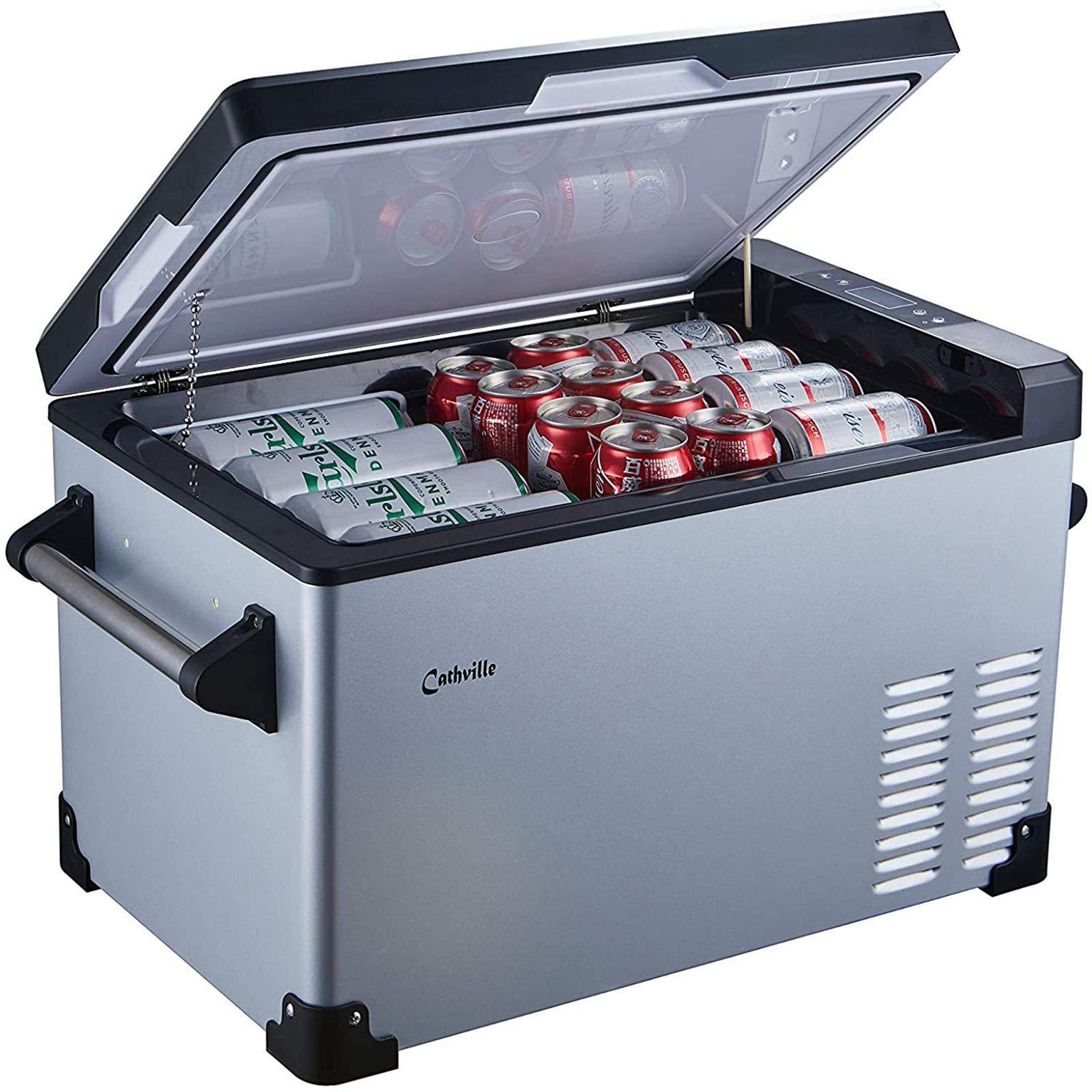 Cathville 48 Quart Portable Refrigerator Fridge Freezer for car Camping RV Home Boat Outdoor 12V DC 110V AC -4/°F Degree Roadtrip
