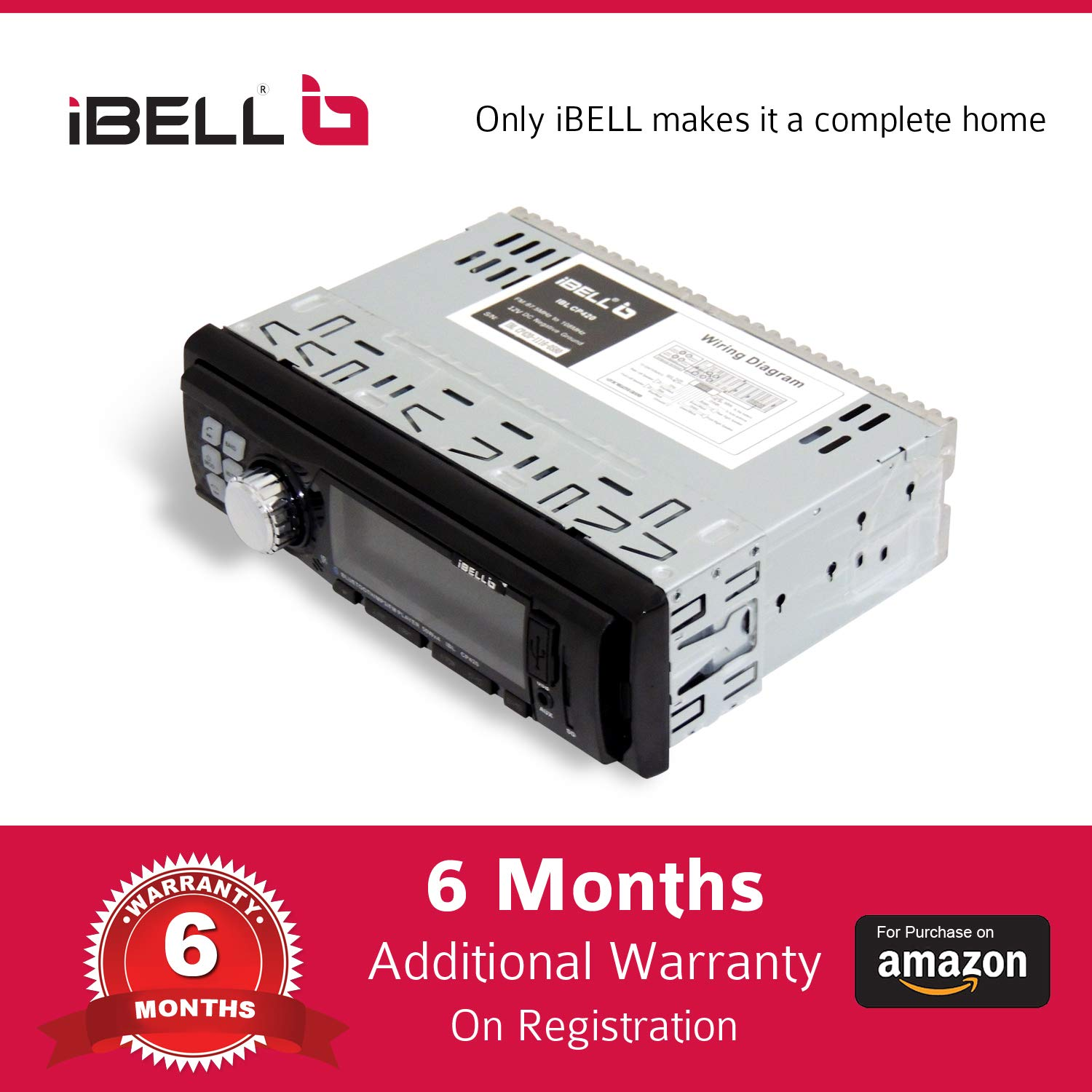 4be16e24396 iBELL IBL CP420 240W Car Stereo Media MP3 Music System  Amazon.in   Electronics