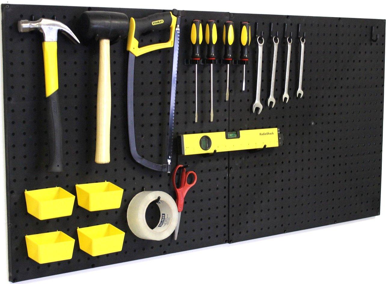 Pegboard Panels Wall Storage Kit in 48''- 72'' Widths Panel Set Garage Organizer (3) by WallPeg (Image #2)