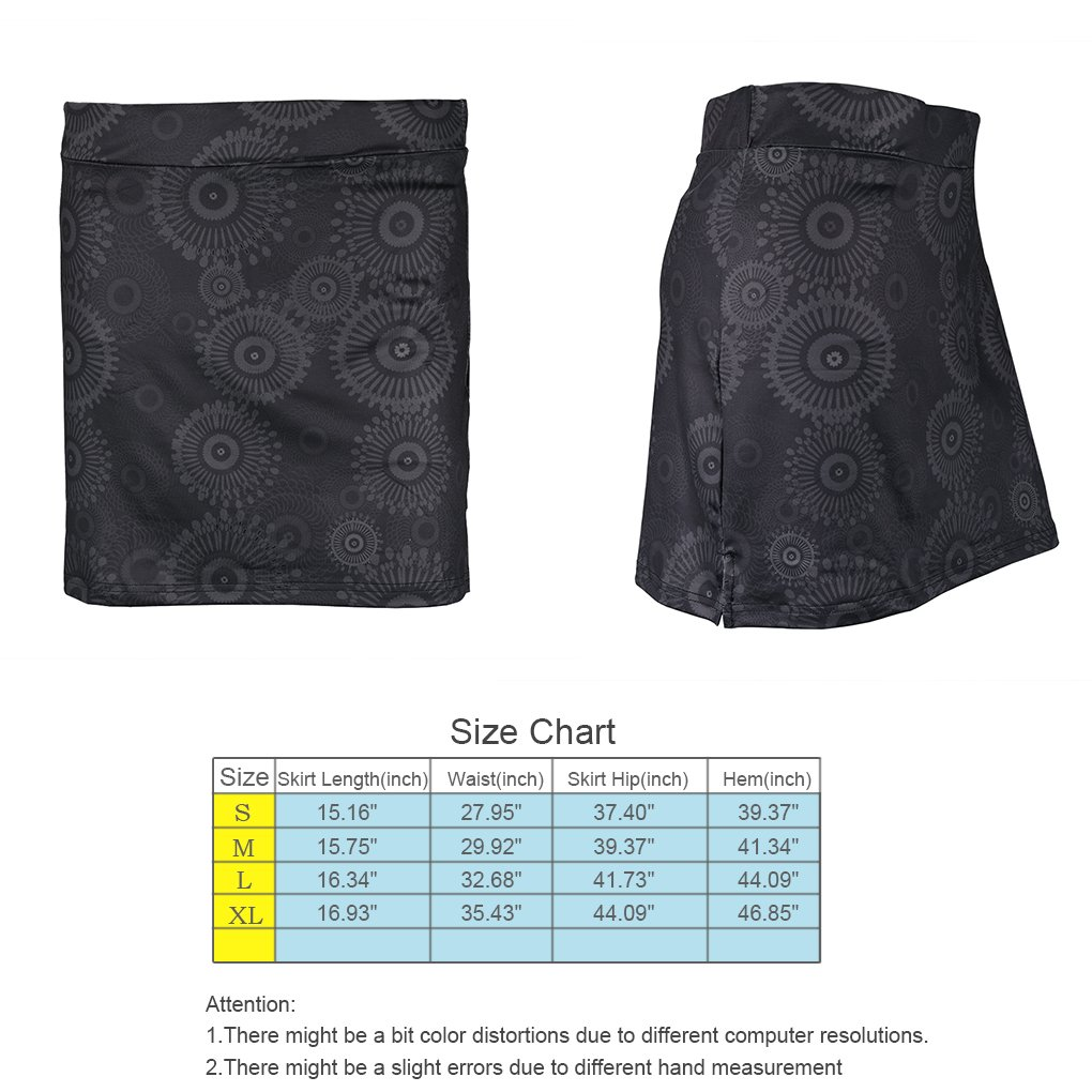 Topfire Women Active Athletic Skorts Lightweight Quick Dry Skirt, Gray Printing, Large by Topfire (Image #3)