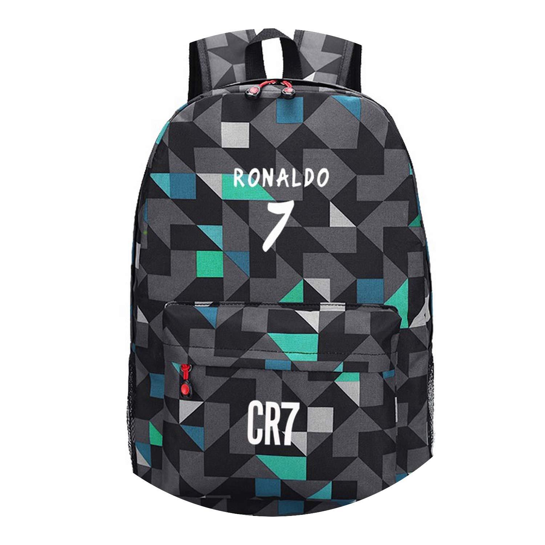 2 Fluorescent Backpack School Bags for Teenagers Backpack Cristiano Ronaldo Backpacks Bookbags