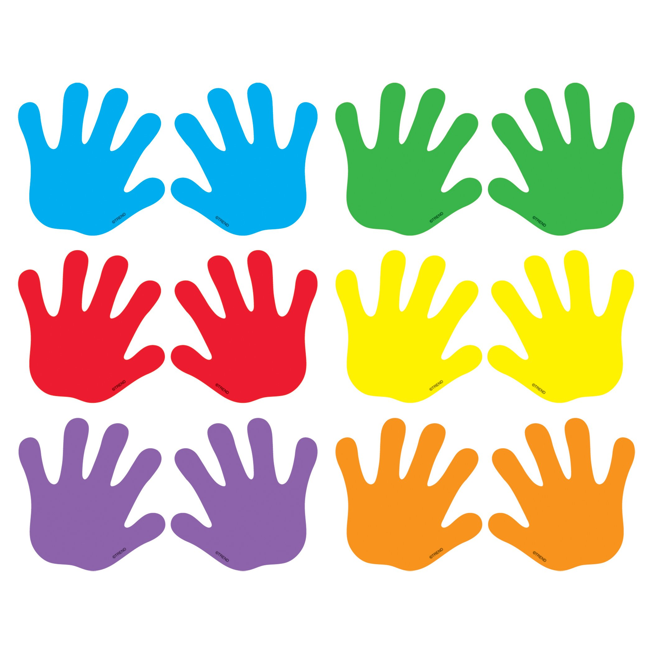 TREND enterprises, Inc. T-10831BN Handprints Mini Accents Variety Pack, 36 Per Pack, 6 Packs by Trend
