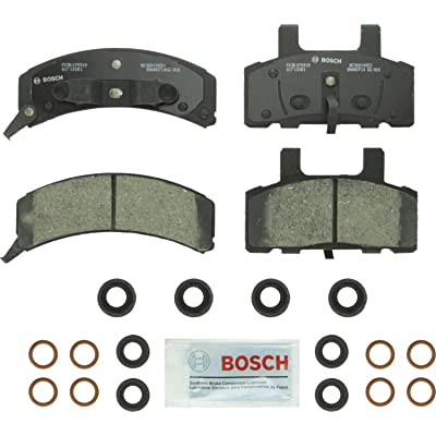 Bosch BC369 QuietCast Premium Ceramic Disc Brake Pad Set For Select Cadillac; Chevrolet Astro, Blazer, Express, C1500/2500 Pickup, Suburban, Tahoe; GMC Safari, Savana, Suburban, Yukon + More; Front: Automotive