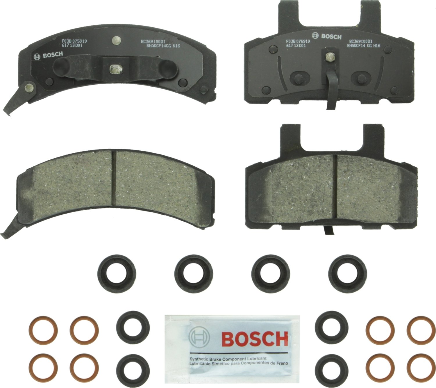 Amazon.com: Bosch BC1451 QuietCast Premium Ceramic Disc Brake Pad Set For: Acura TSX; Honda Accord, Rear: Automotive