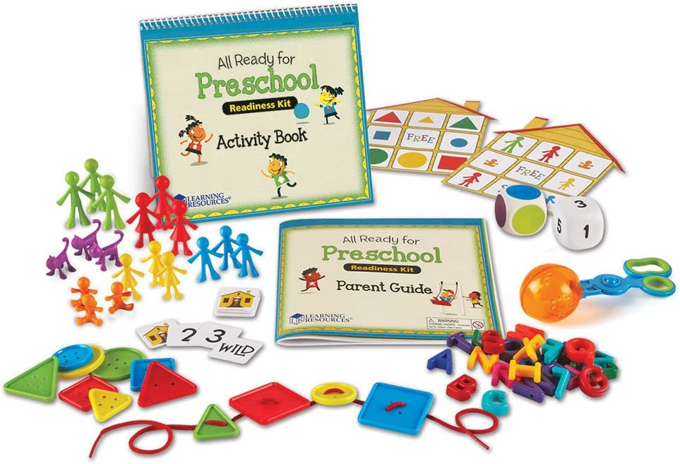 Learning Resources All Ready for Preschool Readiness Kit, Homeschool, Counting & Fine Motor Skills Toy, Ages 3+