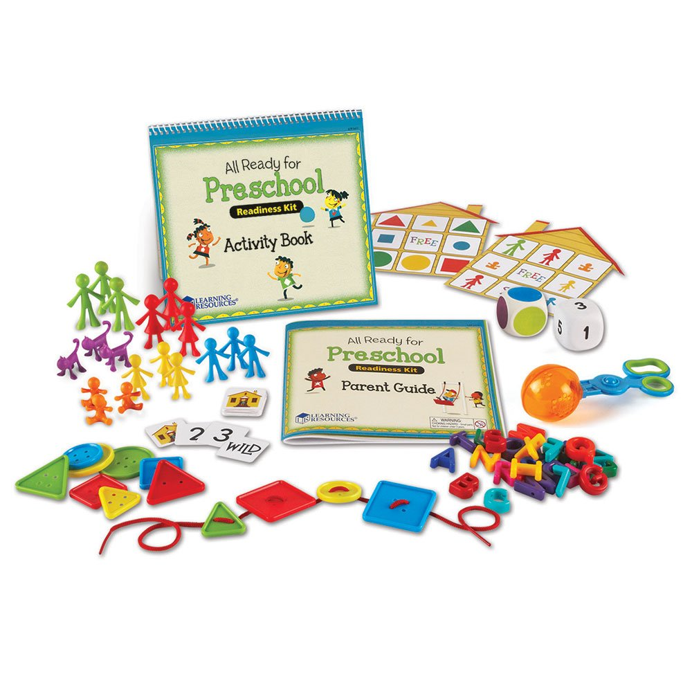 Learning Resources All Ready for Preschool Readiness Kit, Counting & Fine Motor Skills Toy