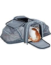 ABISTAB Hundebox faltbar Transportbox Hunde und Katze Transporttasche für Auto- und Flugreisen geeignet Tragetasche mit bequemer Liegematte, weicher Katzenkorb Hundekorb