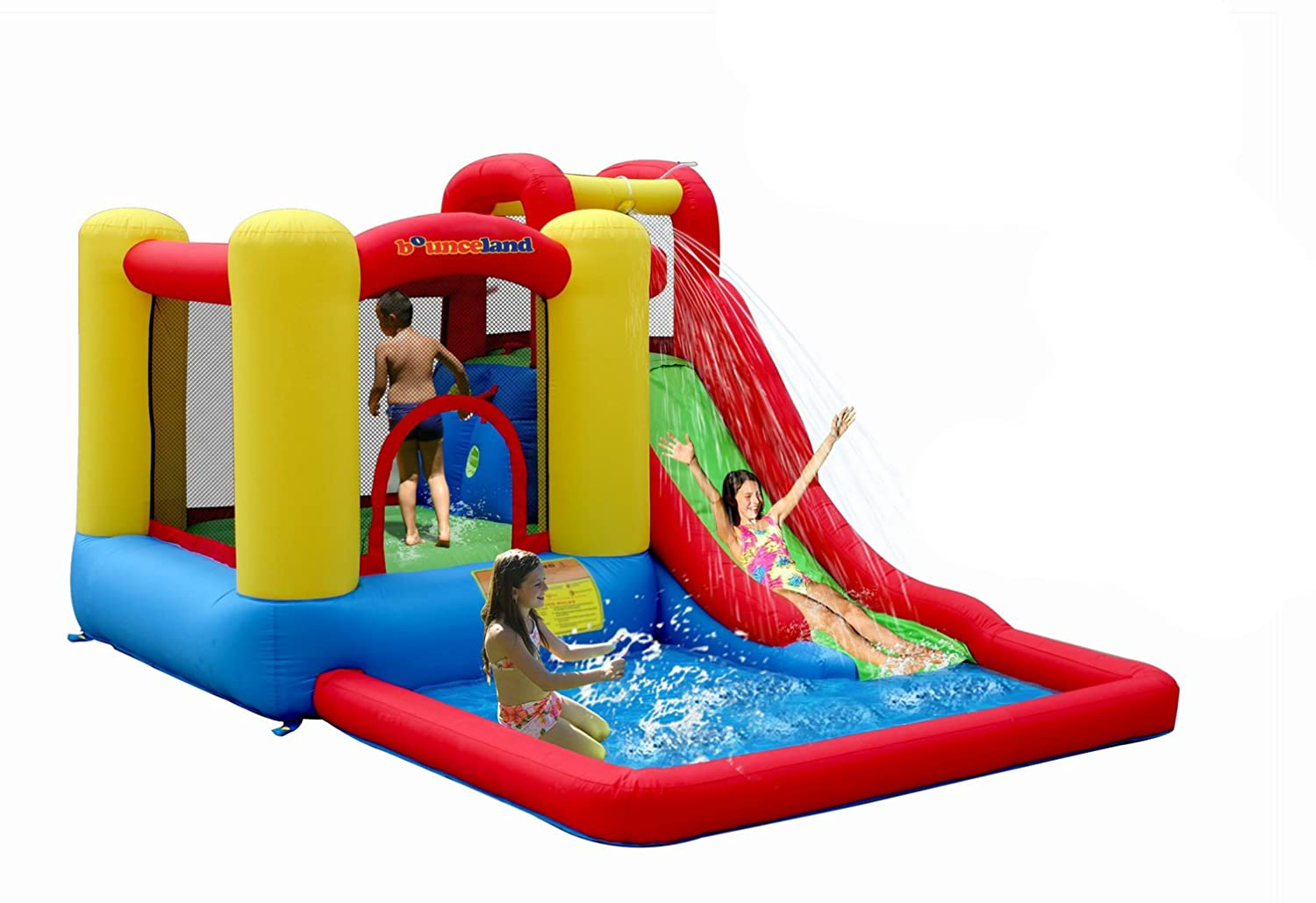 amazoncom bounceland jump and splash bounce house bouncer toys u0026 games - Blow Up Water Slides