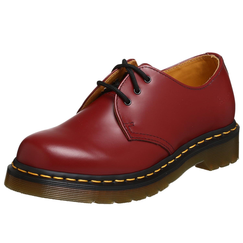 Dr. Martens Women's 1461 W Three-Eye Oxford Shoe B00178YXUW 4 UK (US Women's 6 M)|Cherry Red