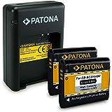 PATONA Dual Caricabatteria + 2x Batteria EB-BC200ABE per Samsung Gear 360 | SM-C200 con micro USB