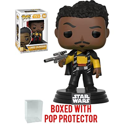Funko Pop! Star Wars: Solo - Lando Calrissian Vinyl Figure (Bundled with Pop Box Protector Case): Toys & Games