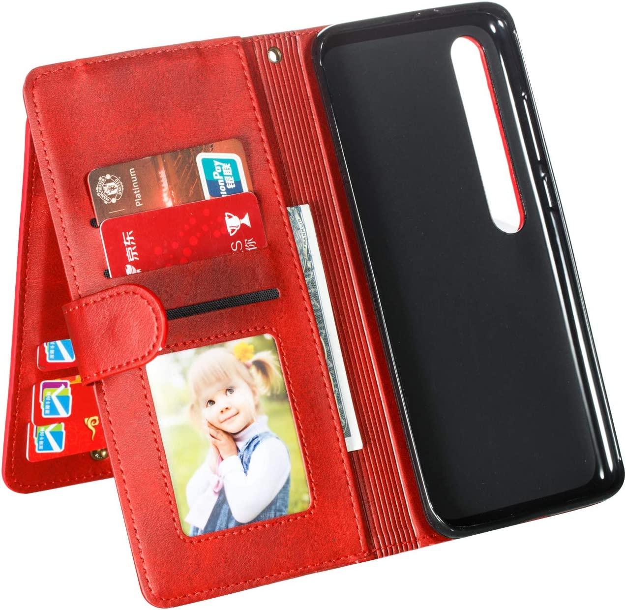 Lomogo Cover Xiaomi Mi 10 Portafoglio Custodia a Libro Pelle Porta Carte Chiusura Magnetica Antiurto Flip Wallet Case per Xiaomi Mi10 LOYTE040419 Blu Mi 10 PRO 5G