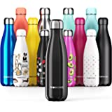 Proworks Stainless Steel Water Bottle, BPA Free & Vacuum Insulated for 12 Hours Hot & 24 Hours Cold Drinks, Metal Sports…