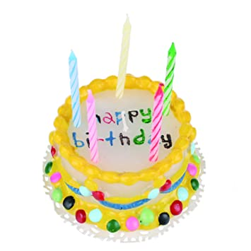 Wax Birthday Cake Novelty Candles