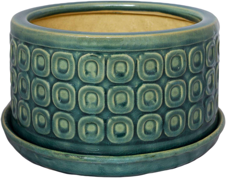 20 cm Maceta tradicional oriental de cer/ámica Ivyline