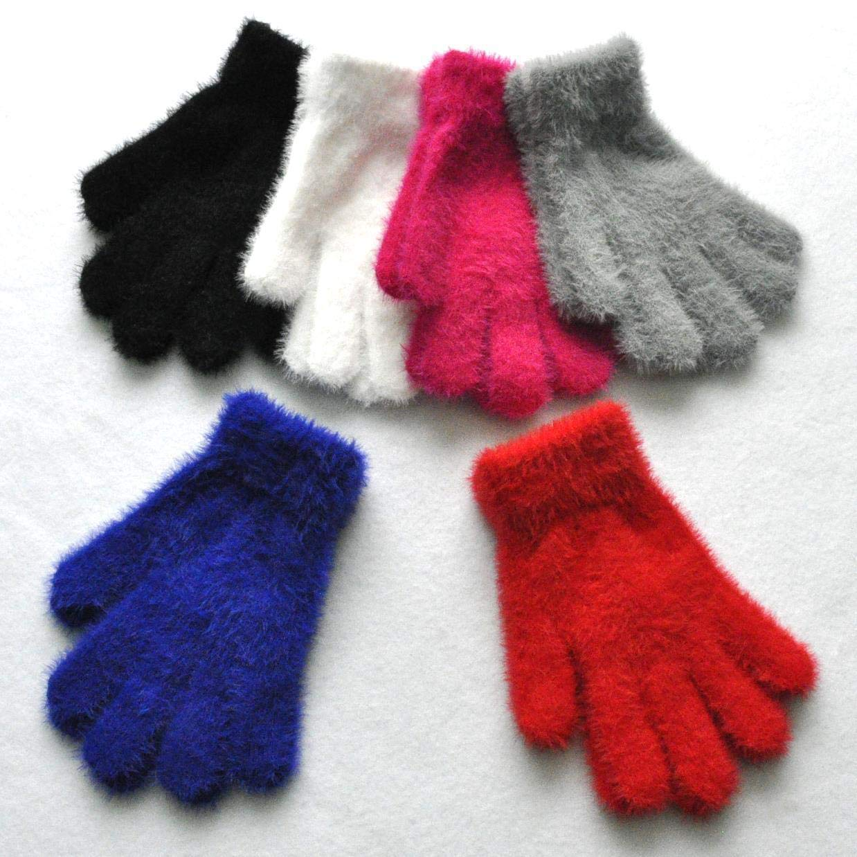3-5 Years, 6-Color Kids Boys Girls Baby Gloves Winter Thick Warm Knit Cotton Mittens for 3-12 Years Unisex Children