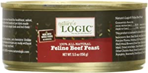 Nature'S Logic 24 Count Feline Beef Feast Canned Cat Food (Case Of 24), 5.5 Oz