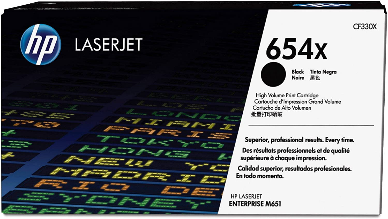 HP 654X | CF330X | Toner Cartridge | Black | High Yield