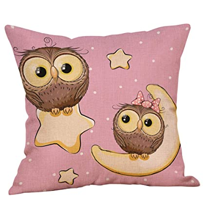 Amazon.com: Mome - Funda de almohada decorativa con dibujos ...