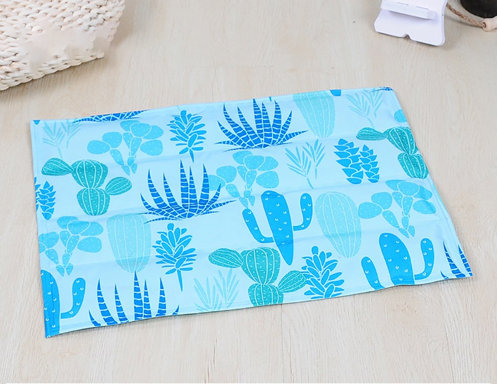Cactus Medium cactus Medium YAJAN-Pet Dog Mat Summer Pet Non-Slip Bite-Resistant Cooling Breathable Waterproof Mosquito Ice Pad Dog Quilt