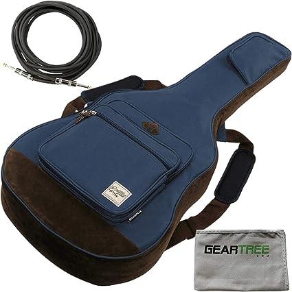 Ibanez IAB541MGN POWERPAD Acoustic Gig Bag Moss Green w//Polish Cloth 3 Pack