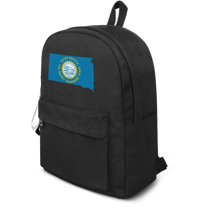 60efffbc4046 Amazon.com | Flag And Map Of South Dakota Backpack, Classic Water ...
