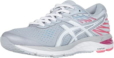ASICS Gel-Cumulus 21 Womens Running Shoe, Piedmont Grey/White, 7 D US: Amazon.es: Zapatos y complementos