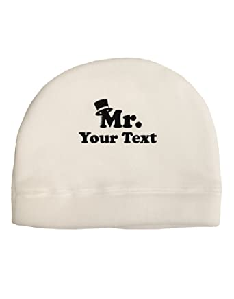 75b8be008b3542 Amazon.com: TooLoud Personalized Mr Classy Adult Fleece Beanie Cap Hat  White: Clothing